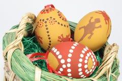 Merce nel carrello delle uova di Pasqua Fotografie Stock