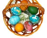 Merce nel carrello delle uova di Pasqua Immagine Stock Libera da Diritti