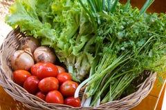 Merce nel carrello delle verdure Fotografia Stock Libera da Diritti