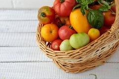 Merce nel carrello matura del preparato dei pomodori Immagine Stock Libera da Diritti
