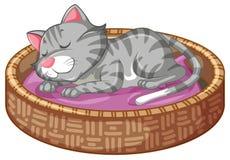 Merce nel carrello sveglia del gattino royalty illustrazione gratis
