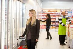 Mercearia do supermercado imagens de stock