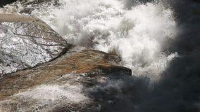 merced河急流慢动作射击在优胜美地国立公园 股票视频