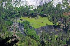 Merced flod från denmil slingan, Yosemite, Yosemite nationalpark Royaltyfri Fotografi