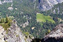 Merced flod från denmil slingan, Yosemite, Yosemite nationalpark Arkivfoto