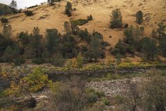 Merced flod på varm höstdag Royaltyfri Bild