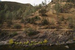 Merced flod på varm höstdag Royaltyfri Foto