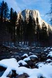 Merced Fluss und halbe Haube Lizenzfreies Stockfoto