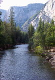 Merced River. Photo of Merced River in Yosemite National Park in California Stock Images