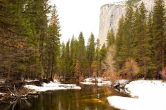 Merced River and El Capitan Stock Images
