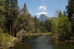 Merced river Stock Photo