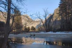 Merced River In Winter, Yosemite Stock Photo