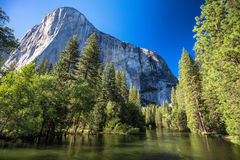 Merced river, Yosemite National Park stock image