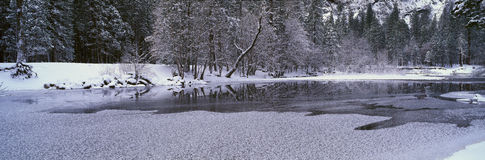 The Merced River In Winter, Stock Photography