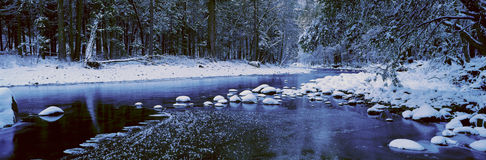 The Merced River In Winter Royalty Free Stock Photos