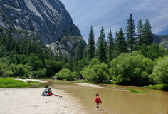 Merced River in Yosemite Royalty Free Stock Photo
