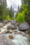 Merced river in Yosemite National Park Stock Photos