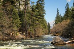 Merced river Royalty Free Stock Images