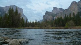Merced River In Yosemite National Park. stock video