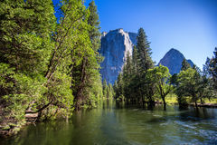 Merced river, Yosemite National Park stock images
