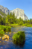 Merced River at Yosemite National Royalty Free Stock Photos