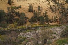 Merced rzeka na ciepłym jesień dniu Zdjęcie Stock