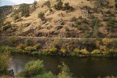 Merced rzeka na ciepłym jesień dniu Obraz Royalty Free