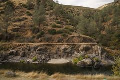 Merced rzeka na ciepłym jesień dniu Fotografia Stock