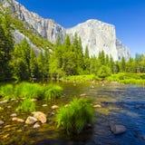 Merced rzeka przy Yosemite park narodowy Zdjęcia Royalty Free