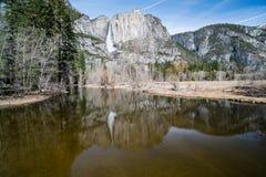 Merced rzeka, Yosemite park narodowy, Kalifornia Fotografia Royalty Free