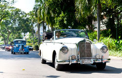Mercedes 220S on Vintage Car Parade Royalty Free Stock Image