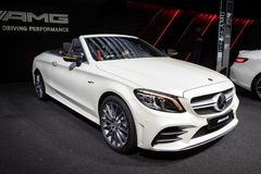 2017 Mercedes AMG C63 S Cabriolet car. 2017 Mercedes AMG C43 S Cabriolet car royalty free stock photography