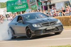 Mercedes AMG drifting Royalty Free Stock Images