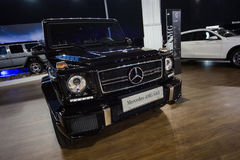 Mercedes AMG G63. Belgrade, Serbia - March 23, 2017: New Mercedes AMG G63 presented at Belgrade 53th International Motor Show - MSA OICA Royalty Free Stock Images