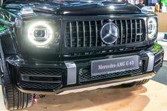 Mercedes-AMG G 63, segunda generaci?n, W463, coche campo a trav?s de la G-clase producido por Mercedes-Benz fotografía de archivo libre de regalías