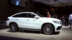 Mercedes-AMG GLE 63 Coupe crossover luxury SUV stock video
