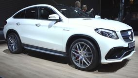 Mercedes-AMG GLE 63 Coupe crossover luxury SUV stock video footage