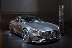 Mercedes-AMG GT C. DETROIT, MI/USA - JANUARY 10, 2017: A Mercedes-AMG GT C car at the North American International Auto Show (NAIAS royalty free stock photos