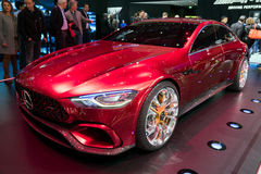 Mercedes AMG GT concept car. GENEVA, SWITZERLAND - MARCH 8, 2017: Mercedes AMG GT concept car at the 87th Geneva International Motor Show Royalty Free Stock Images