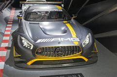 Mercedes-AMG GT3. Frankfurt-September 20: Mercedes-AMG GT3  at the Frankfurt International Motor Show on September 20, 2017 in Frankfurt Royalty Free Stock Image