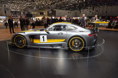 2015 Mercedes-AMG GT3. Geneva, Switzerland - March 4, 2015: 2015 Mercedes-AMG GT3 presented on the 85th International Geneva Motor Show Stock Images