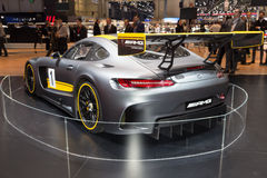 2015 Mercedes-AMG GT3. Geneva, Switzerland - March 4, 2015: 2015 Mercedes-AMG GT3 presented on the 85th International Geneva Motor Show Royalty Free Stock Images