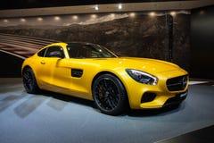 Mercedes-AMG GT i Genève arkivbilder