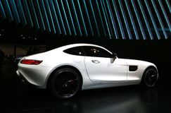 2016 Mercedes AMG GT S bij 2015 NAIAS Royalty-vrije Stock Foto
