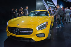 Mercedes AMG GT S on display Royalty Free Stock Image