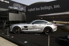 Mercedes-AMG GT S  DTM safety car before the building of Mercedes-Benz on the DTM car race Royalty Free Stock Photo