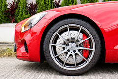 Mercedes-AMG GT S 2015 Wheel Design Royalty Free Stock Images
