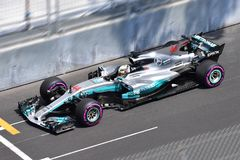 MERCEDES AMG-HAMILTON-GP F1 MONACO 2017 Photo libre de droits