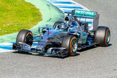 Mercedes AMG Petronas F1, Nico Rosberg, 2015 Royaltyfri Fotografi