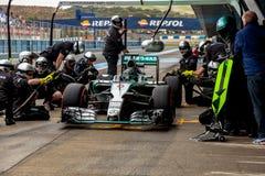 Mercedes AMG Petronas F1, Nico Rosberg, 2015 Royaltyfria Foton